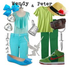 """Wendy & Peter Pan"" by thejoyofdisney on Polyvore"