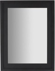 Spiegel Soma - Zwart - Hout - 87x67x3 - Rechthoek - Kavehome 89,99
