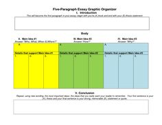 3 paragraph essay outline graphic organizer - Google Search ...