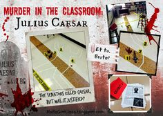 Julius Caesar. Teaching Shakespeare. Middle/ High School English Class lesson. Cold Case Files: Rome Edition.