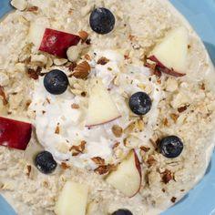 Havregrøt uten koking Oatmeal, Breakfast, Food, The Oatmeal, Morning Coffee, Rolled Oats, Essen, Meals, Yemek