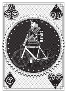 revolvingroundabout: Artcrank: Interbike Screenprint by Nomo Design