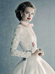Natalia Vodianova in DIOR Couture for Vogue Russia December 2014 by Paolo Roversi