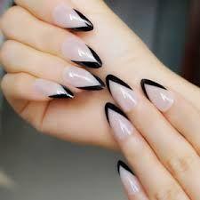 Black French Tip Stiletto Nails Google Search Black French Tips Stiletto Nails Nails
