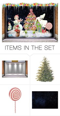 """""""Christmas Fantasy"""" by sjlew ❤ liked on Polyvore featuring art"""