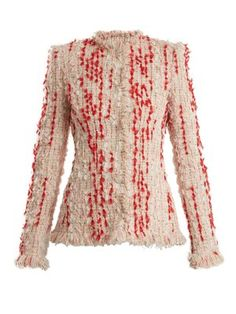 Frayed-hem tweed blazer | Alexander McQueen | MATCHESFASHION.COM