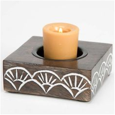 Found it at Wayfair - Handcarved Indian Rosewood Tealight