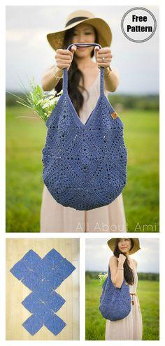 Crochet Diy, Bag Crochet, Crochet Market Bag, Crochet Gratis, Crochet Purses, Love Crochet, Crochet Ideas, Crochet Diaper Bag, Knit Bag