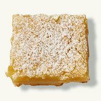Lemon squares- 34 calories a square    I must try this!!! I LOVE lemon bars!!!.