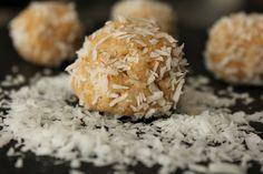 raw coconut protein balls