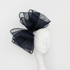 Navy Cliverina Fascinator Hat for Weddings by Hatsbycressida, $100.00 Etsy