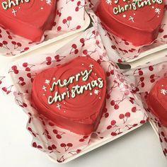 Pretty Cakes, Cute Cakes, Box Cake, Mini Cakes, Xmas, Christmas, Lunch Box, Pudding, Desserts