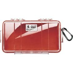 Pelican 1060 Micro Case (red And Clear)