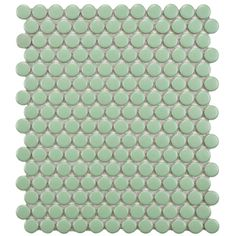 SomerTile 11.5 x 9.875-Inch Victorian Penny Matte Light Green Porcelain Mosaic Tile (Pack of 10)