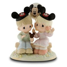 Love is in the air and so is Mickey Mouse in this charming Happiness is Best Shared Together Figurine by Precious Moments. It's a heart-warming Precious Moments figurine for your collection. Mickey Mouse Figurines, Disney Figurines, Mickey Ears, Collectible Figurines, Glass Figurines, Minnie Mouse, Disney Precious Moments, Precious Moments Quotes, Precious Moments Figurines