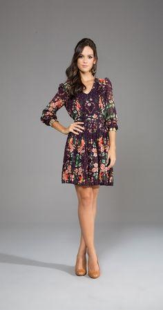 Vestido Flores Punho Metal | Lookbook | Antix Store