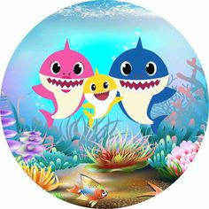 Baby Shark Doo Doo, Shark Family, Baby Boy Cakes, Shark Party, Baby Girl Birthday, Sea Theme, 2nd Baby, Baby Games, Card Tags