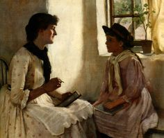 The Morning Lesson by Norman Garstin