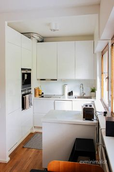 yksiö,keittiö,remontti,avokeittiö,valkoinen