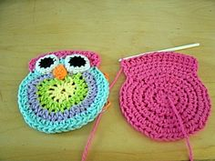 Mama G's Big Crafty Blog: Free Crochet Owl Purse Pattern possibly enlarged for pillow??