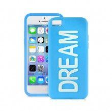Forro iPhone 5C Puro - DREAM Silicona Azul fluorescente  Bs.F. 178,63