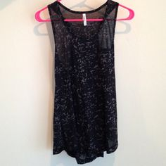 Love Culture Tank Love Culture black and grey racerback ,sheer tank . Worn a couple of times , but in good condition !!!  Love Culture Tops Tank Tops