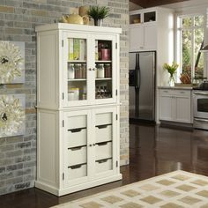 Nantucket Distressed China Pantry - Overstock™ Shopping - Big Discounts on Cabinets