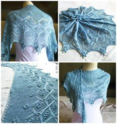 my version of 'Southern Blue' shawl. I helped testing the pattern before it was published. Lace Shorts, Shawl, Knit Crochet, Southern, Knitting, Pattern, Crafts, Blue, Women