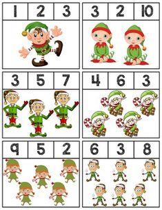 Free printable materials for basic number sense. Preschool Christmas, Christmas Activities, Kids Christmas, Preschool Learning Activities, Kindergarten Math, Preschool Activities, Advent Calendar Activities, Kids Calendar, Christmas Worksheets
