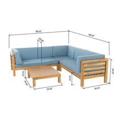 Shop Oana Outdoor 5 Seater V Shaped Acacia Wood Sectional Sofa Set with Coffee Table by Christopher Knight Home - On Sale - Overstock - 12900544 Furniture Sofa Set, Diy Outdoor Furniture, Pallet Furniture, Furniture Plans, Outdoor Sofa, Home Furniture, Furniture Design, Rustic Furniture, Antique Furniture