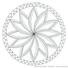 Voorbeeld van een Mandala tekening 1