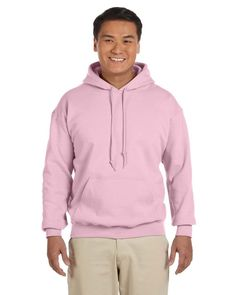 Everyone should have at least a couple of comfortable pullover hoodies. The Gildan Heavy Blend 50/50 Pullover Hoodie gets it right. It's available in 33 colours, it's pill-resistant, it's soft and comfortable, and it's extremely affordable. It also looks great as a plain pullover hoodie or a canvas for your brand via printing or embroidery.
