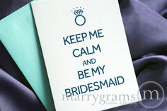 Will You Be My Bridesmaid Cards - Keep Me Calm & Be My - Matron of Honor, Wedding Party- Engagement - Fun Way, Cute Card to Ask Bridesmaids