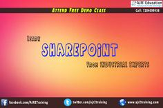 SharePoint Training from Industrial Experts #AJR2EDUCATION