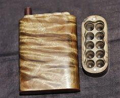 Premium Custom cigarrera de madera madera Burl CNC por iWoodShop