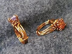 Tutorial for pronged rings with faceted stones - How to make wire jewelry