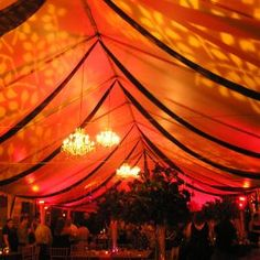 Uplighting adds a special warmth to an outdoor tent!