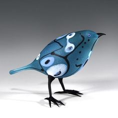 Pismo Fine Art Glass_Dotted Bluebird by Shane Fero