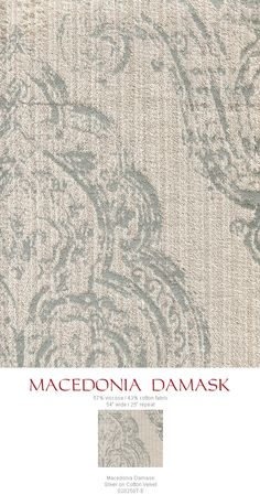 Quadrille Macedonia Damask - Added May 2015