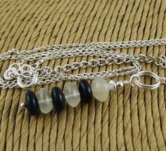 Sailor Girl Navy and White Stacked Gemstone by OklahomaMama, $17.00