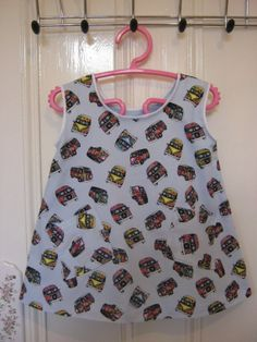 Items similar to Girl's Iconic Kitsch/Rockabilly Retro Campervan Dress to fit up to chest on Etsy Vintage Crafts, Campervan, Kitsch, Rockabilly, Retro, Tank Tops, Fitness, Dresses, Women