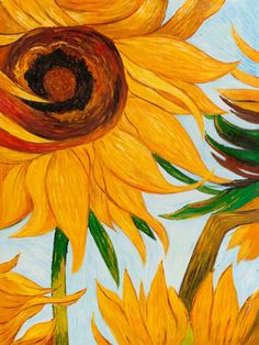 Vincent Van Gogh - Sunflowers (detail)