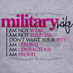 Military Wife ~ Visit AFWM.org the largest non-official informational website…