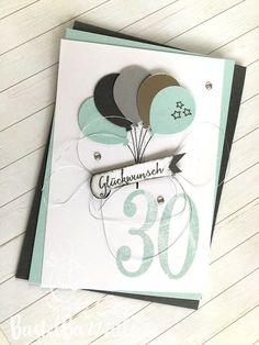 Birthday Card, Geburtstagskarte, Birtday Card, Birthday, Geburtstagskarte, Geburtstag Soft Sky, Silver, Balloon Celebration, Ballons Berlin, Bastelbazzzille, Stempeln, Stanzen, Staunen, Embossing, Stampin' Up!, SU, Stampin Up