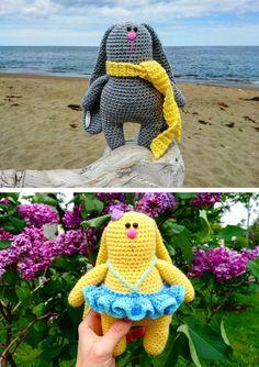 Bunny on holidays free crochet pattern
