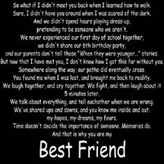 We will always be together, side by side. I love you and you love me. Not in some cheesy we'll be together forever way, but simply because we're best friends! Besties Quotes, Best Friend Quotes, Love Quotes, Inspirational Quotes, Bestfriends, Friend Poems, Bffs, Love My Best Friend, Best Friends Forever