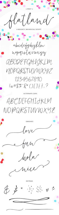 Flatland Font by Angie Makes on Creative Market
