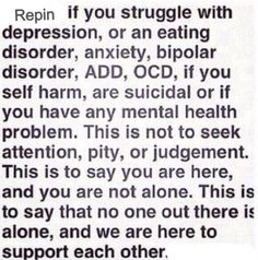 Depression, generalized anxiety disorder, social anxiety disorder, OCD, self-harm, suicidal ideation.