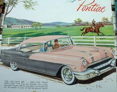 Vintage 1950s ads | Vintage Car Ads - Collection 5 Pontiac Automobile Magazine ...