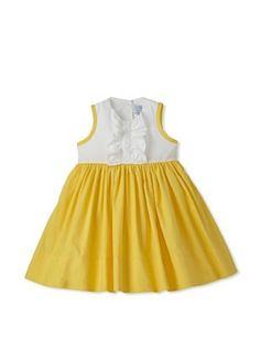 Baby CZ Girl's Valetina Ruffled Dress (White//Yellow)